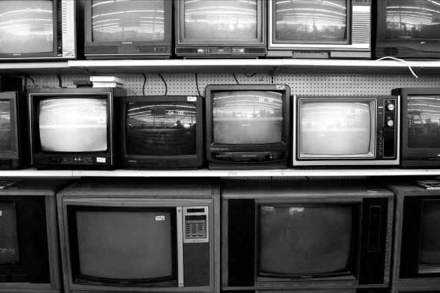 Bank of television sets